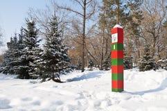 La frontière d'état de l'URSS marqueur de frontière Photo stock