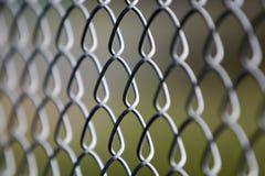 La frontière de sécurité en acier vers le haut-se ferment Photos stock