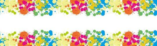 La frontière sans couture orange de tache floue de papier peint de limande et de tache de calomnie de jaune de tache de tache de  Photos libres de droits