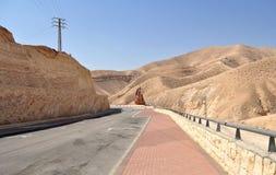 La frontiera fra Israele e la Palestina Fotografia Stock
