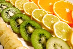 La fruta cítrica corta las imágenes comunes fotos de archivo
