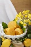 La fruta cítrica natural hecha a mano sospechó el sistema amarillo del balneario del jabón Fotografía de archivo