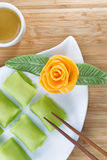 La fruta china del Durian se apelmaza para el postre Imágenes de archivo libres de regalías