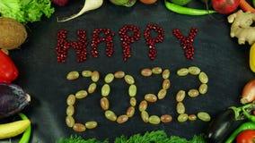 La fruta feliz 2022 para el movimiento Fotografía de archivo