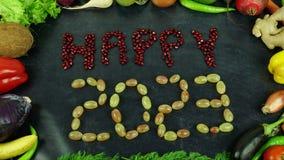 La fruta feliz 2023 para el movimiento Fotografía de archivo libre de regalías