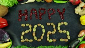 La fruta feliz 2025 para el movimiento Imagenes de archivo