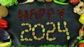 La fruta feliz 2024 para el movimiento Imagen de archivo libre de regalías