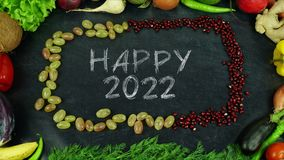 La fruta feliz 2022 para el movimiento Fotografía de archivo libre de regalías