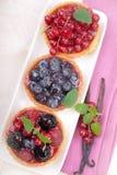 Tortas de la fruta fresca fotografía de archivo