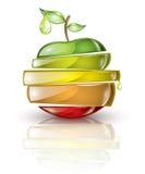 La fruta junta las piezas de uno encima del otro Foto de archivo