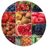 La fruta y las bayas más frescas y útiles fotografía de archivo