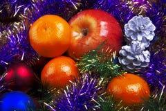 La frutta del nuovo anno Immagini Stock