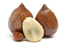 La frutta di Alocal indigena in Indonesia ed in Malesia, prima o poi conosciute come il serpente fruttifica Fotografia Stock Libera da Diritti