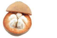 La frutta di santol su fondo bianco Fotografie Stock Libere da Diritti
