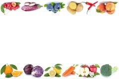 La frutta e il copyspace delle verdure copiano le ciliege dell'arancia della mela dello spazio Immagini Stock