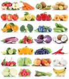 La frutta e la raccolta delle verdure hanno isolato il Cu arancio dell'uva della mela Fotografia Stock