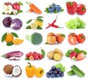 La frutta e la raccolta delle verdure hanno isolato il pepp arancio della campana della mela Immagini Stock Libere da Diritti