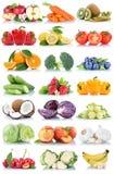 La frutta e la raccolta delle verdure hanno isolato la lattuga arancio b della mela Fotografia Stock Libera da Diritti