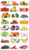 La frutta e la raccolta delle verdure hanno isolato la lattuga arancio b della mela Immagini Stock