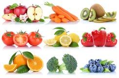 La frutta e la raccolta delle verdure hanno isolato le bacche arancio b della mela Fotografia Stock