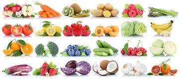 La frutta e la raccolta delle verdure hanno isolato le bacche arancio b della mela Immagini Stock