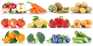 La frutta e la raccolta delle verdure hanno isolato le bacche arancio c della mela Fotografie Stock