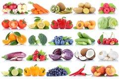 La frutta e la raccolta delle verdure hanno isolato le bacche arancio g della mela Fotografia Stock