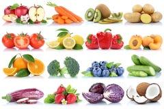 La frutta e la raccolta delle verdure hanno isolato le bacche arancio s della mela Fotografia Stock