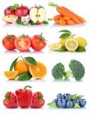 La frutta e la raccolta delle verdure hanno isolato le bacche arancio t della mela Fotografia Stock Libera da Diritti