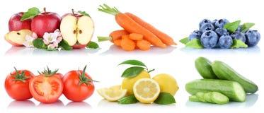 La frutta e le verdure hanno isolato il frui fresco delle bacche dei pomodori della mela Fotografia Stock Libera da Diritti