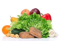 La frutta e le verdure sono a dieta il concetto della prima colazione di mattina di perdita di peso Immagini Stock