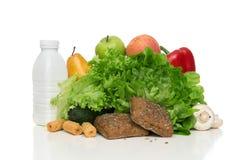 La frutta e le verdure sono a dieta il concetto della prima colazione di mattina di perdita di peso Fotografia Stock Libera da Diritti
