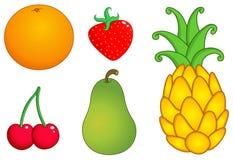 La frutta ha impostato 1 Fotografia Stock Libera da Diritti