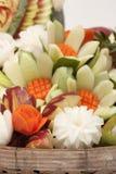 La frutta ha intagliato Fotografie Stock