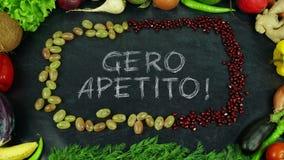 La frutta lituana di apetito di Gero ferma il moto, in inglese il appetit di Bon Fotografia Stock