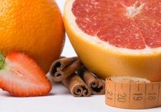 la frutta mette in mostra la nutrizione Fotografia Stock