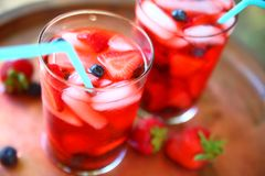 La frutta sana ha infuso le bevande Immagine Stock Libera da Diritti