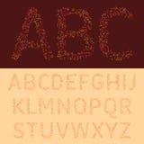 La fuente colorida de las letras Imagenes de archivo