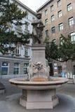 La fuente de Agustín en el Augustinplatz en Viena, Austria Foto de archivo libre de regalías