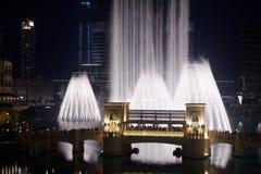 La fuente de Dubai Foto de archivo libre de regalías