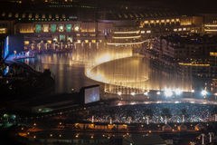 La fuente de Dubai Imagen de archivo