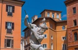 La fuente de Neptuno, Italia Fotos de archivo
