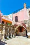 La fuente de Rimondi en el centro de la ciudad vieja de Rethymnon, Grecia Foto de archivo