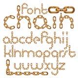 La fuente de vector, mecanografiado de moda se puede utilizar en la creación del cartel Las letras creativas minúsculas hechas co stock de ilustración