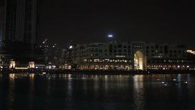 La fuente del canto en Dubai almacen de video
