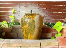 La fuente del tarro es hermosa en Tailandia Foto de archivo