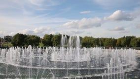 La fuente en la museo-reserva Tsaritsyno, Moscú almacen de video