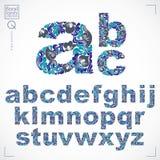 La fuente floral, alfabeto minúsculo del vector a mano pone letras a decoros libre illustration