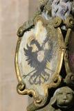la fuente histórica detalla los ornamentos y los objetos foto de archivo libre de regalías