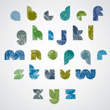 La fuente moderna del estilo de Digitaces con las líneas de semitono imprime textura Fotografía de archivo libre de regalías